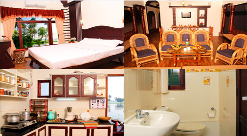 4 bedroom boat house in alappuzha